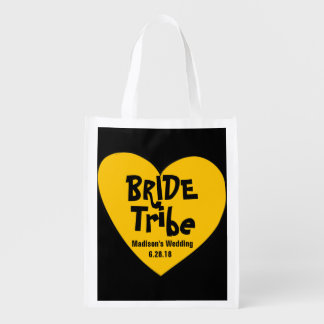 Funky & Cool Yellow Heart Bride Tribe