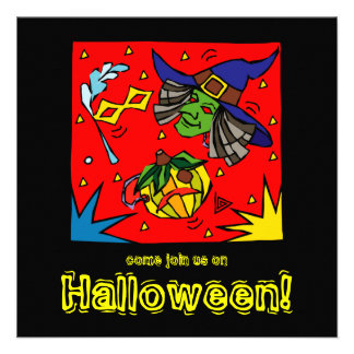 Funky Costumes Halloween Party Invitation