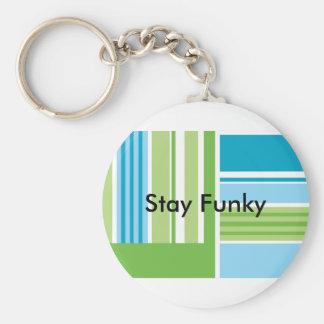 Funky Crafty Stripes Custom Key Ring