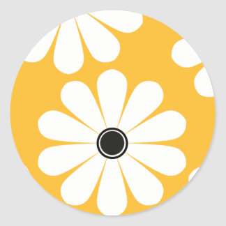 Funky Daisies (Yellow) Stickers