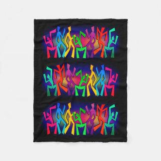 Funky Dancers Fleece Blanket