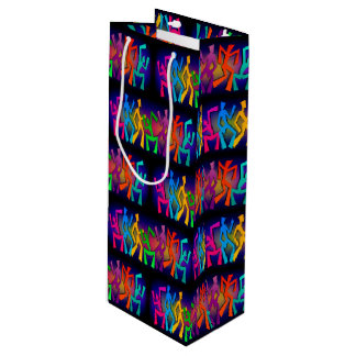 Funky Dancers Wine Gift Bag