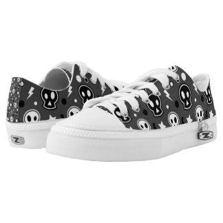 Funky Dark Skull Pattern Printed Shoes