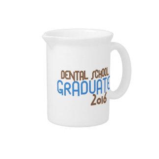 Funky Dental School Graduate 2016 (Blue) Beverage Pitchers