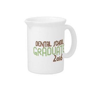 Funky Dental School Graduate 2016 (Green) Beverage Pitchers