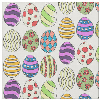 Funky Designs Dyed Easter Eggs Fabric