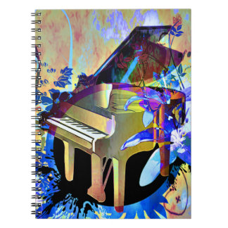 Funky Digitally Colored Piano Note Books