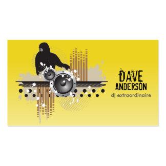 Funky Disc Jockey (DJ) Grunge Business Card