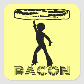Funky Disco Bacon Square Sticker