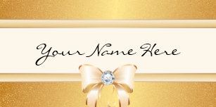 Funky business card holders cases zazzle funky distressed gold gradient pretty bling bow desk business card holder reheart Gallery