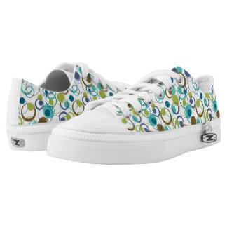 funky dot green shoes