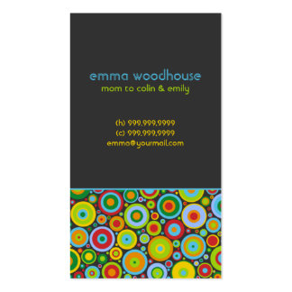 """Funky Dots 'n' Stripes"" Mommy Business Card"