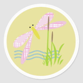 Funky Dragonfly Sticker