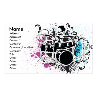 funky drummer vector design Double-Sided standard business cards (Pack of 100)
