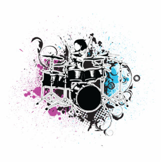 funky drummer vector design photo cut outs
