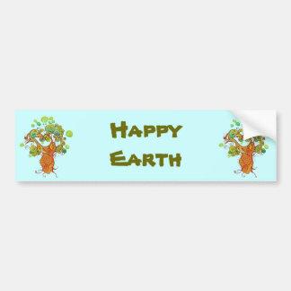Funky Earth, Happy Earth Bumper Sticker