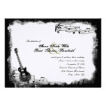 Funky Electric Guitar Music Wedding Invitation