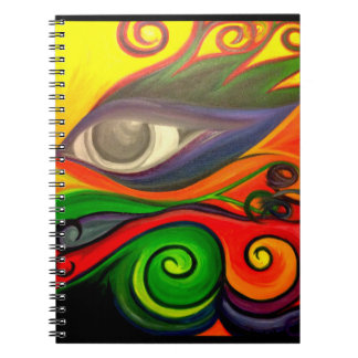 Funky eye notebook