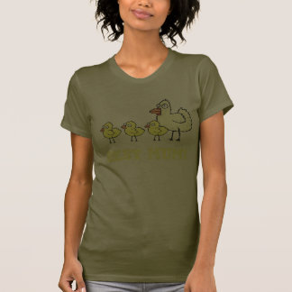 Funky Farm Chicken And Chick Best Mum! Ladies 6 T-Shirt