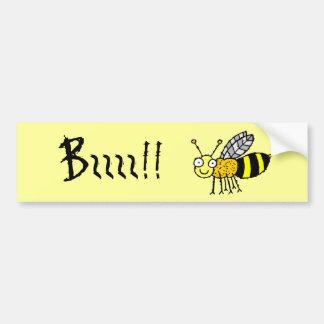 Funky Farm Honey Bee Bumper Sticker Bzzzz!!