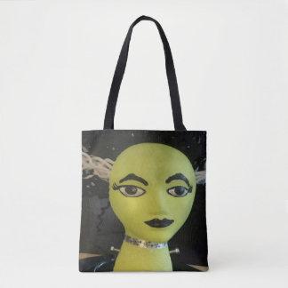 Funky  Female Frankenstein Monster Mannequin Tote Bag