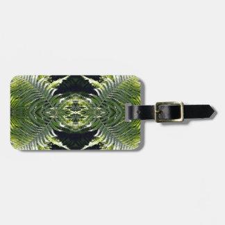Funky Ferns Customizable Luggage Tag