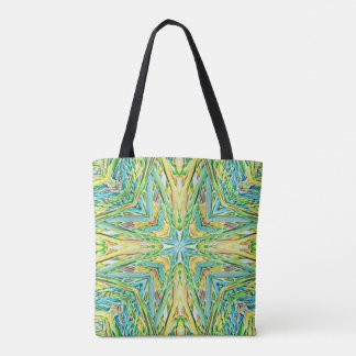 Funky Festive Pastel Cross Shaped Pattern Tote Bag