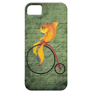 Funky Fish on a Penny Farthing iPhone 5 Cover