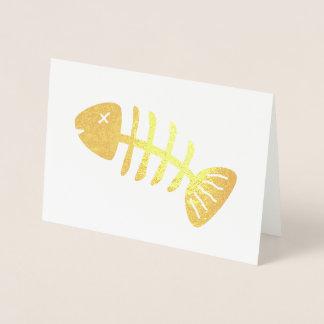 Funky Fish Skeleton Foil Card