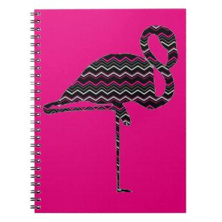 Funky flamingo notebook