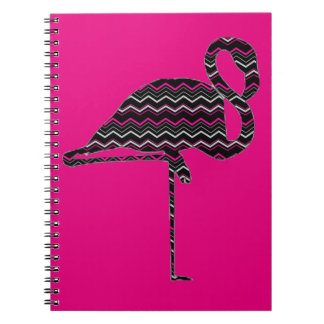 Funky flamingo spiral note books