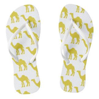 Funky flip flips camel yellow thongs