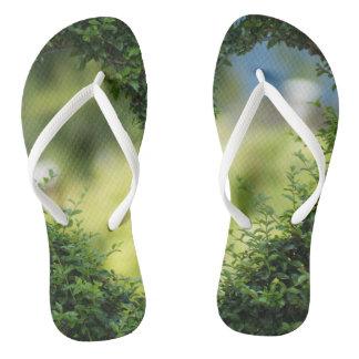 Funky flip flops secret garden thongs
