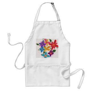 Funky floral apron