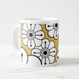 Funky Floral Jumbo Coffee or Soup Mug