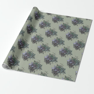 Funky Floral Line Drawing Gift Wrap