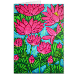 Funky Floral - Lotus Greeting Card