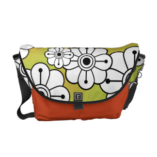 Funky Floral Messenger Bag
