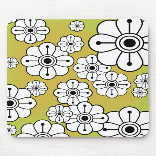 Funky Floral Mousepad
