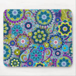 Funky Floral Pattern in trendy colours Mousepad