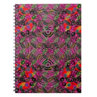 Funky Florescent Zebra Notebook