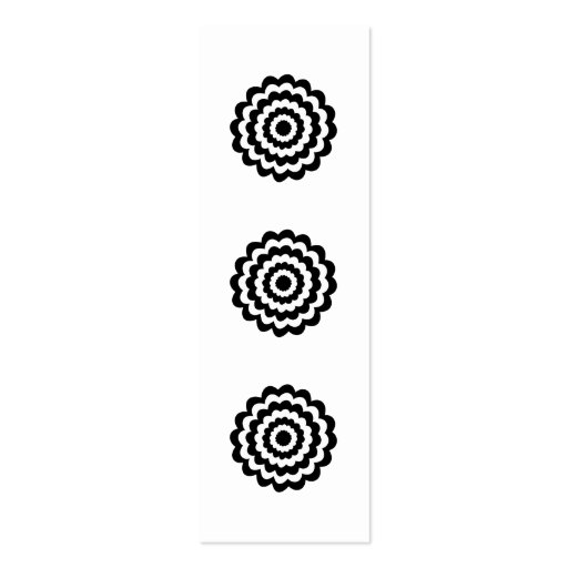 Funky Flower in Black and White. Business Card Template