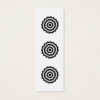 Funky Flower in Black and White. Mini Business Card