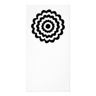 Funky Flower in Black and White. Customized Photo Card