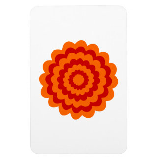 Funky Flower in Orange and Red Magnets
