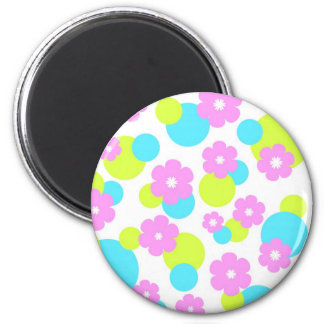 Funky flowers - Magnet
