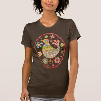 Funky Folk Art Bird Shirt
