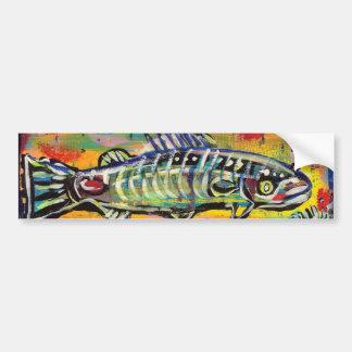 Funky Folk Fish #10 Bumper Sticker
