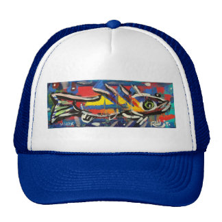 Funky Folk Fish #9 Mesh Hats