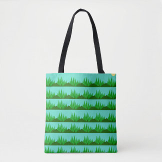 Funky Forest Pattern Tote Bag